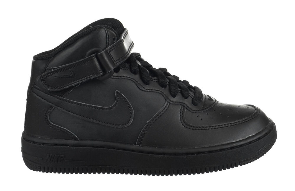 finest selection 20549 229a0 Details about Nike Air Force 1 Mid (PS) Preschool Kids Shoes Leather Uptowns  Black 314196-004