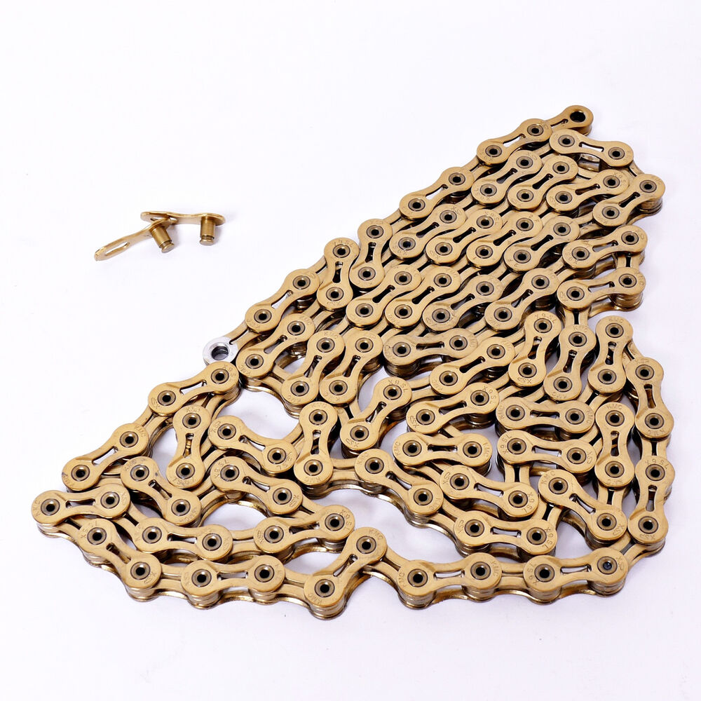 KMC X9L Gold Bicycle 9 Speed Chain MTB Road Chain 116 Links X9L Gold