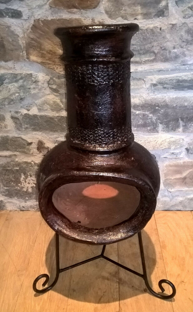made small clay chiminea patio heater ebay