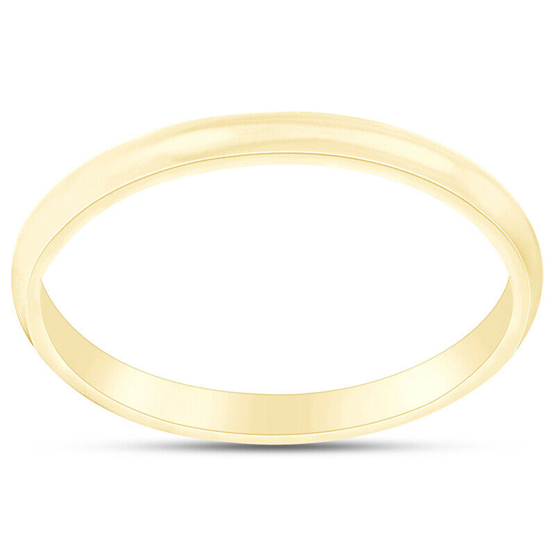 Solid 10k Yellow Gold 2mm 3mm 4mm 5mm Comfort Fit Men