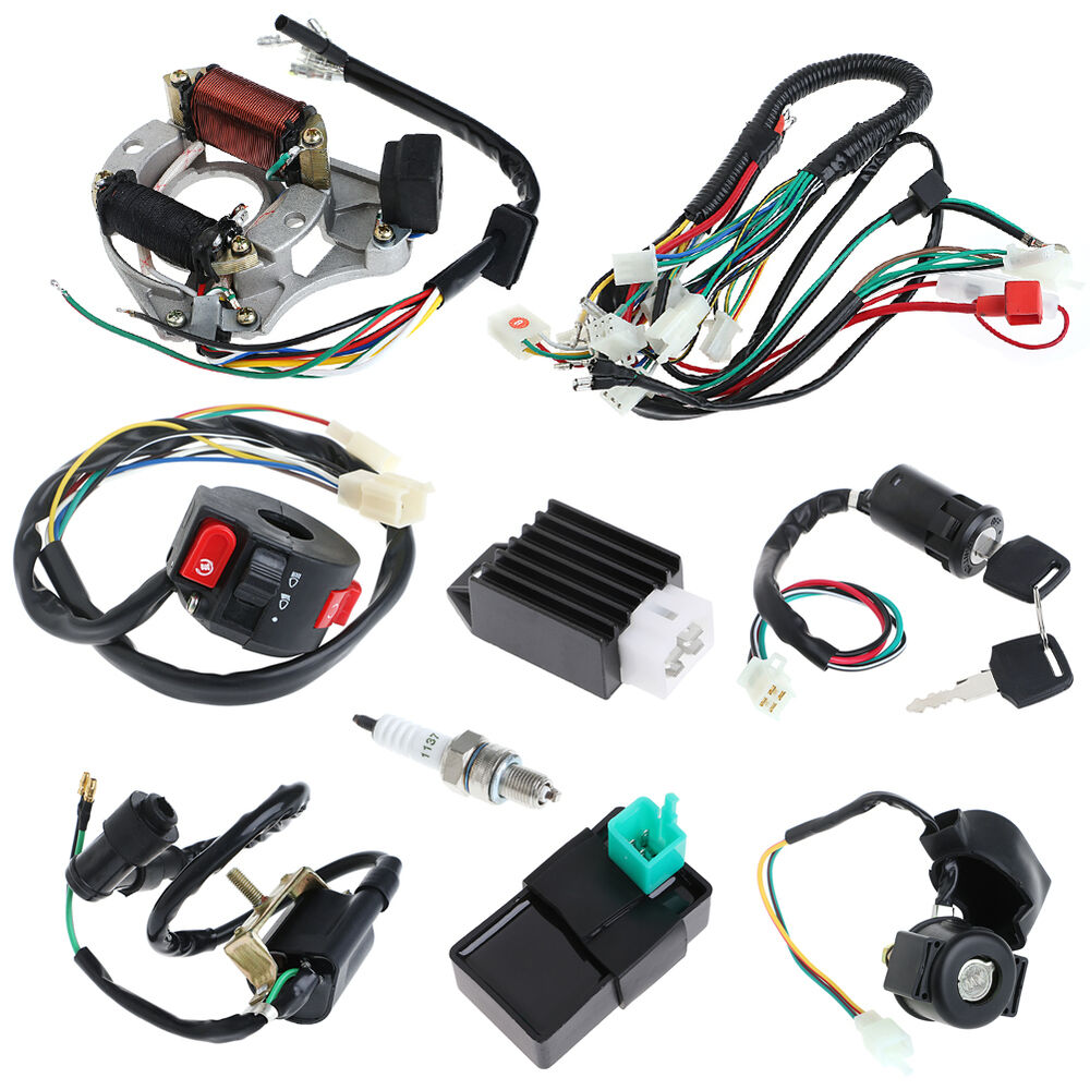 cdi 50 70 90 110cc wire harness assembly wiring set atv. Black Bedroom Furniture Sets. Home Design Ideas