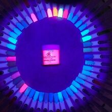 GLAM AND GLITS GLOW IN THE DARK ACRYLIC 1oz NAIL POWDER FULL 48 COLORS UPDATED