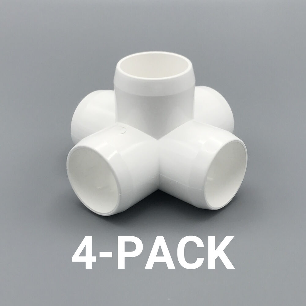 Quot inch way cross pvc fitting connector elbow pack