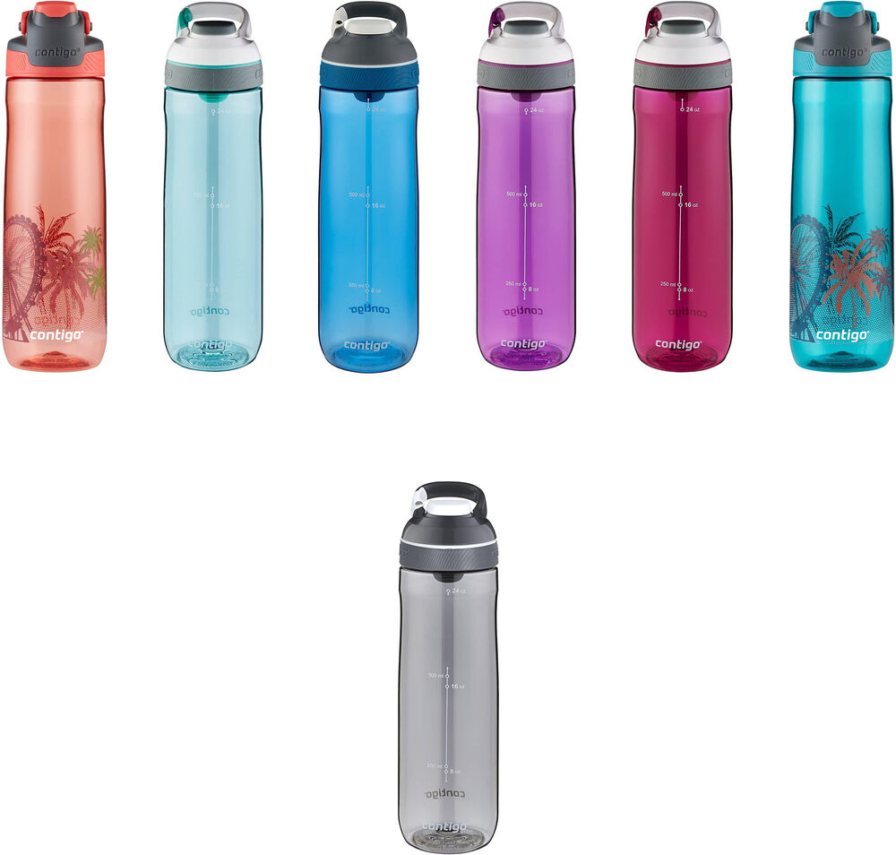 Water Bottle Volume: Contigo Auto Seal Cortland Water Bottle, 2 Sizes, 5 Colors