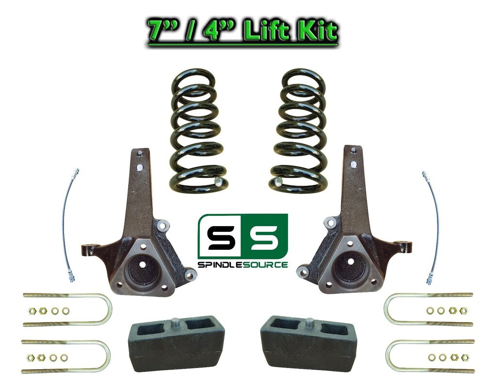 """4 Inch Lift Kit For Dodge Ram 1500 2Wd >> 2002 - 2008 Dodge Ram 1500 2WD 7"""" Front 4"""" Rear Spindle ..."""