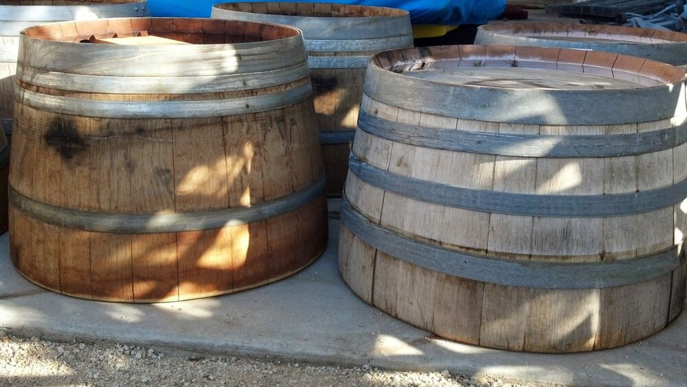 authentic used half wine barrel big price reduction