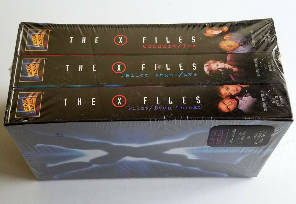 the x files first season lot of 3 vhs new sealed box set with 6 collector card 86162010620 ebay. Black Bedroom Furniture Sets. Home Design Ideas