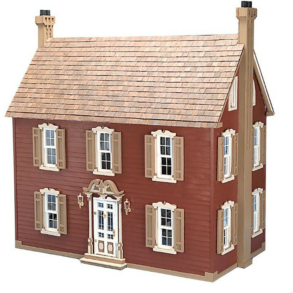 Large Wooden Doll House Vintage Victorian Kit Wood