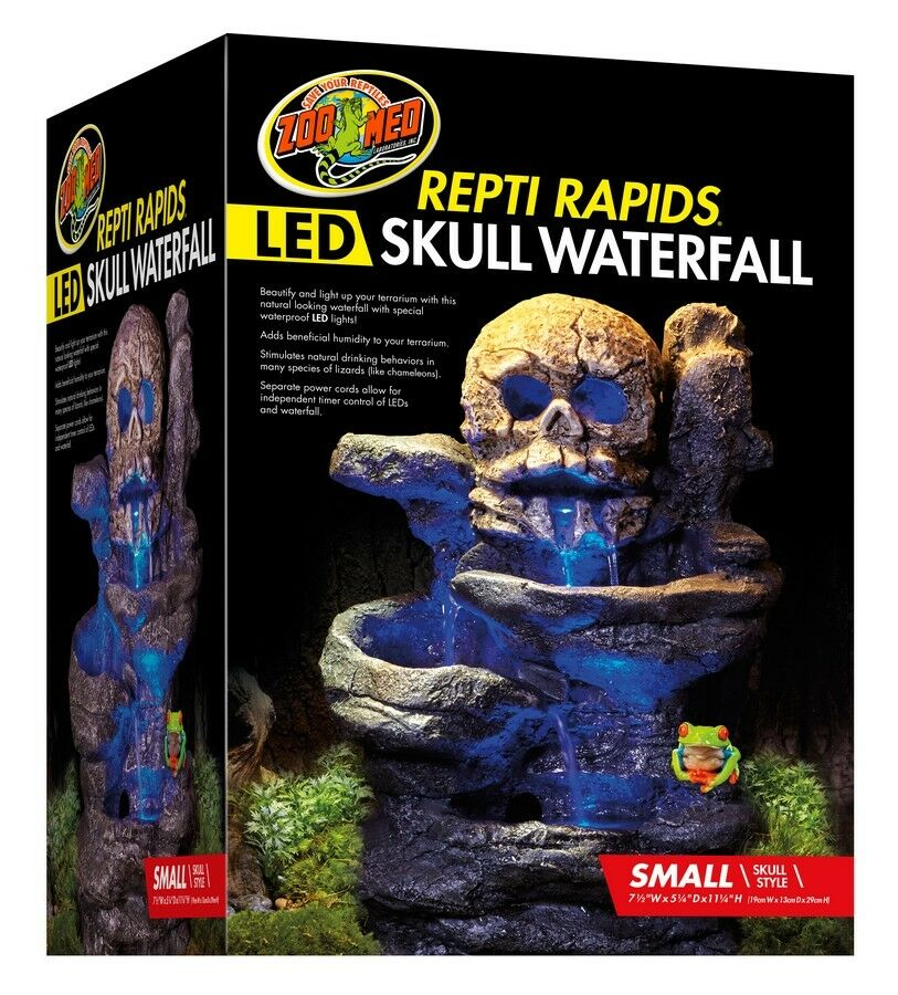 Zoo Med Repti Rapids Led Waterfall Small Skull 9761291061