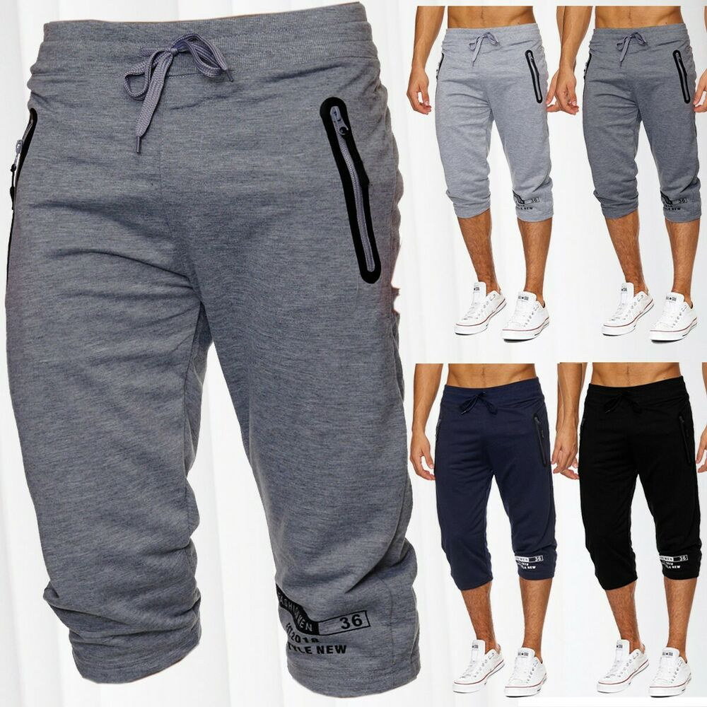 herren sweat shorts jogging sport kurze hose jogginghose baumwolle sommershorts ebay. Black Bedroom Furniture Sets. Home Design Ideas