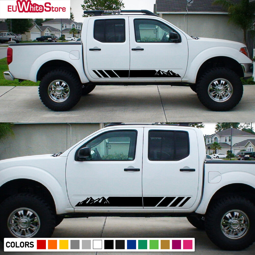 Nissan Frontier Pro 4X >> Side Decal Vinyl Stripes for Nissan Frontier Navara Grille Sport Off Road 4x4 | eBay