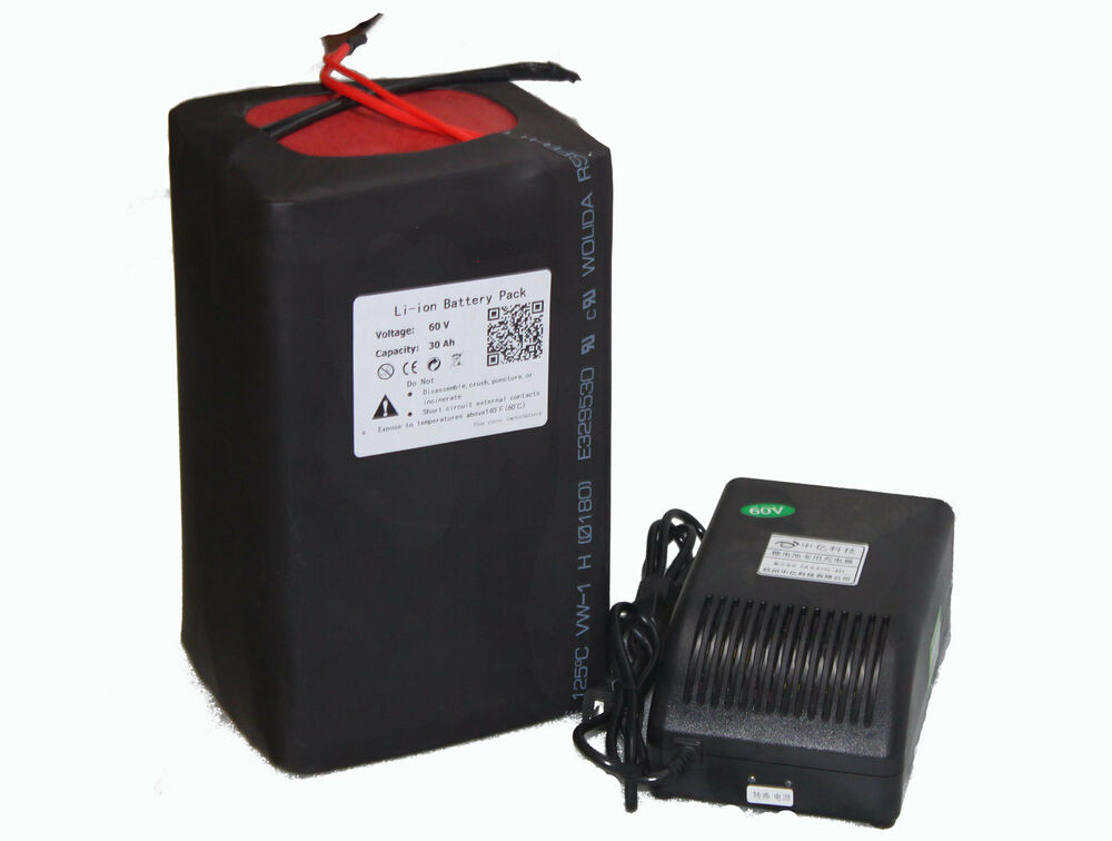 60v Volt 30ah Lithium Ion Battery Pack With Charger Pcb