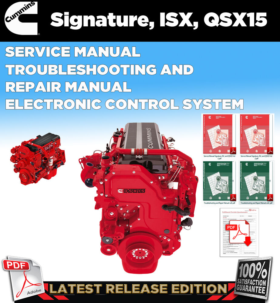 CUMMINS Signature ISX QSX15 Service Manual
