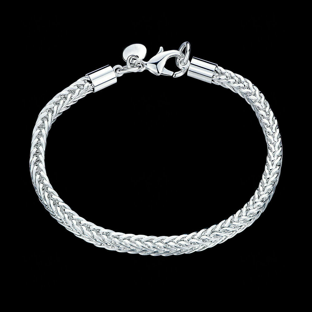 8 mens womens 925 sterling silver 4mm franco cuban link. Black Bedroom Furniture Sets. Home Design Ideas