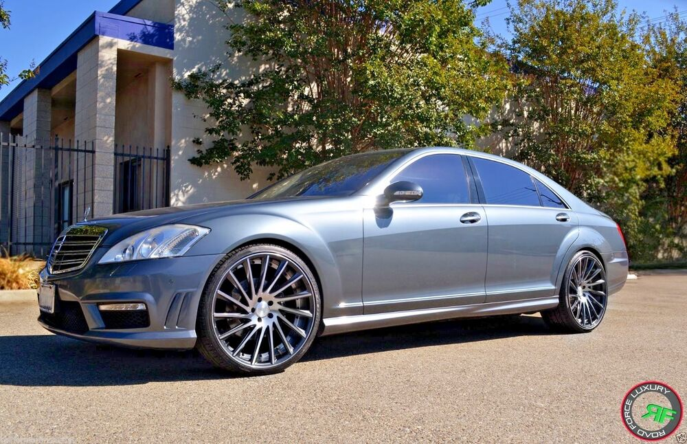 22 rf16 staggered wheels rims for mercedes s class w221 for Mercedes benz s550 accessories