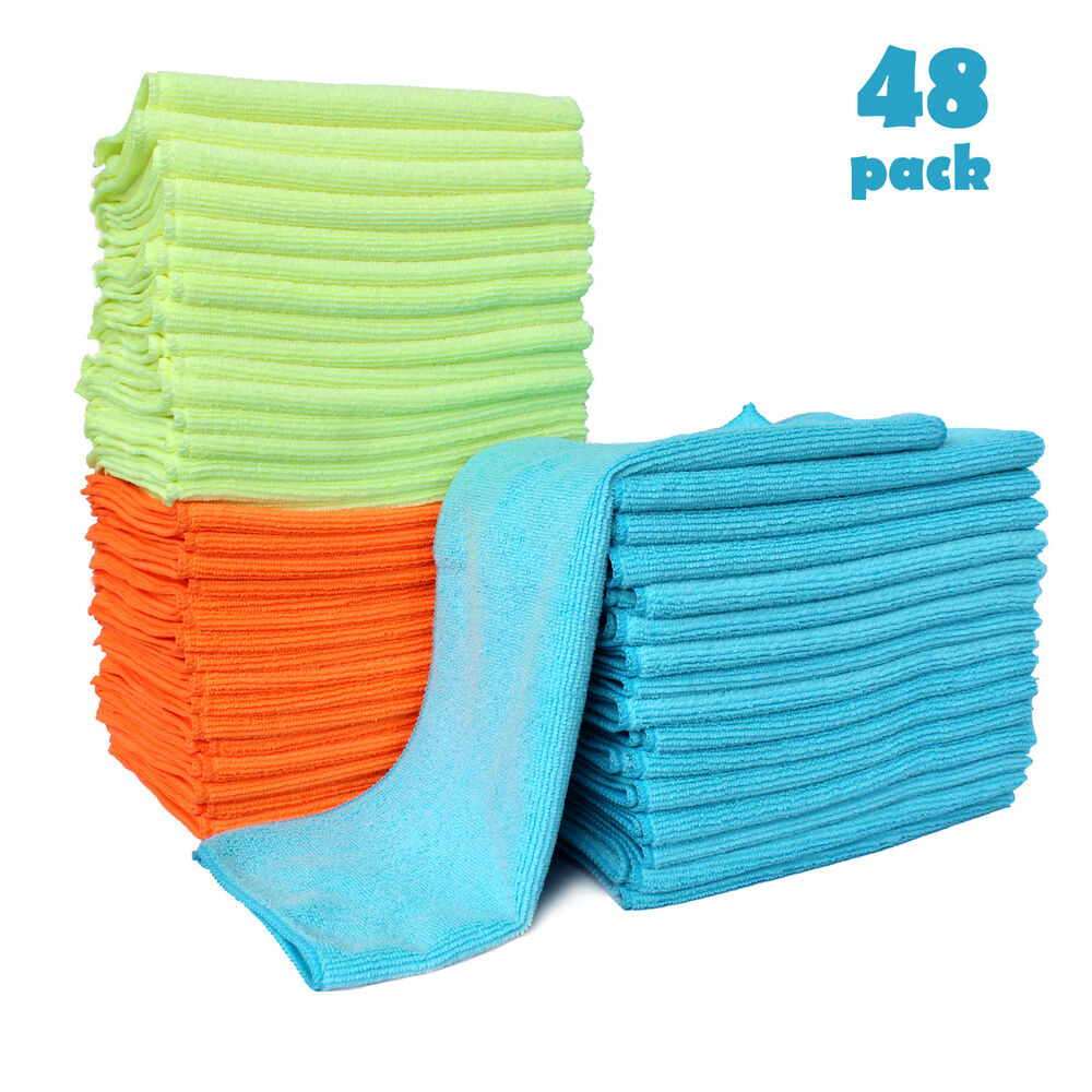 Microfiber Cloth Remove Scratches: 48 Pack Microfiber Cleaning Cloth Anti-Scratch Car Rag
