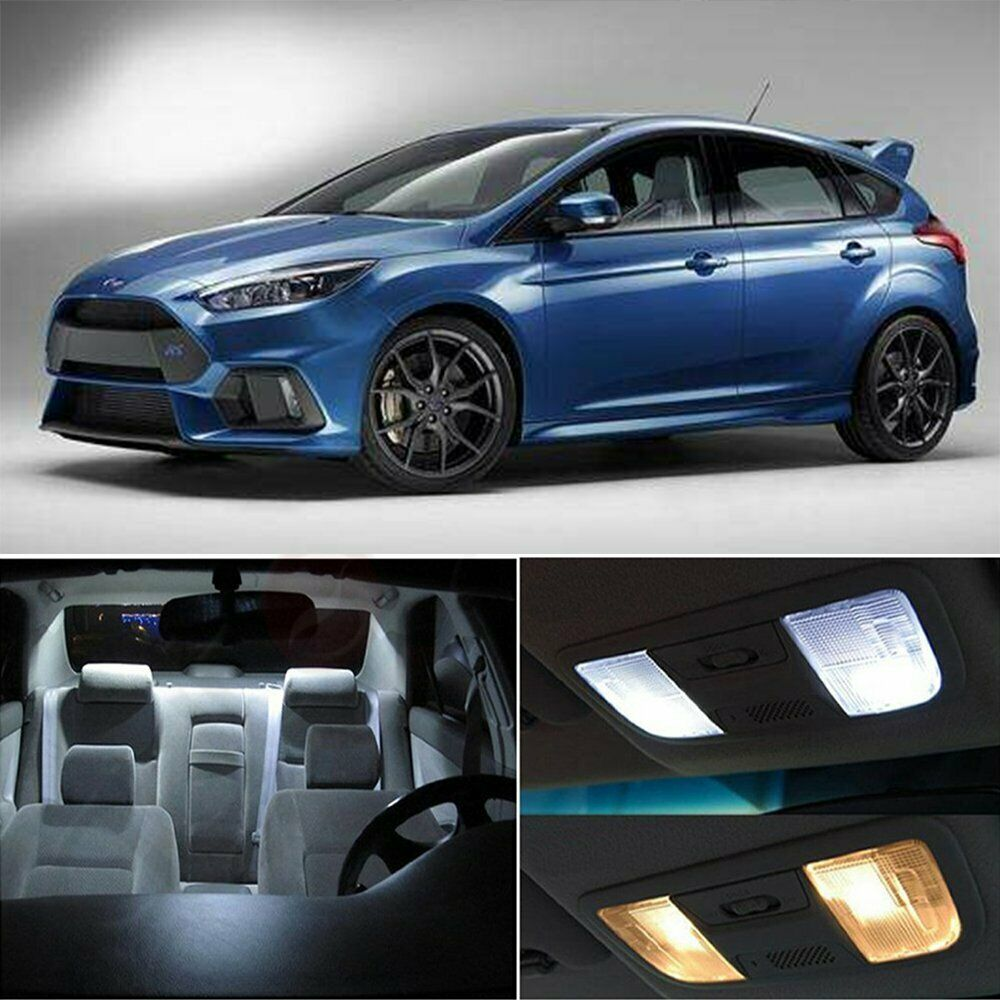 10x Blue Interior Led Lights Replacement Package Kit Fit: 10x Interior Car LED Lights Bulb Package Kit For Ford