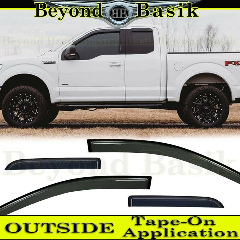 2015-2018 Ford F150 Ext./SuperCab 4PC Smoke Door Vent