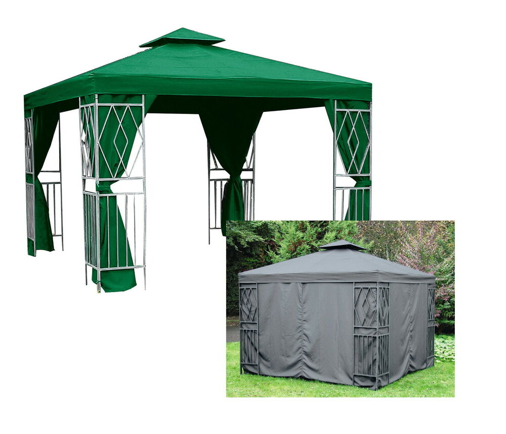 aluminium pavillon 3x3m seitenteile partyzelt festzelt alu garten zelt m bel ebay. Black Bedroom Furniture Sets. Home Design Ideas