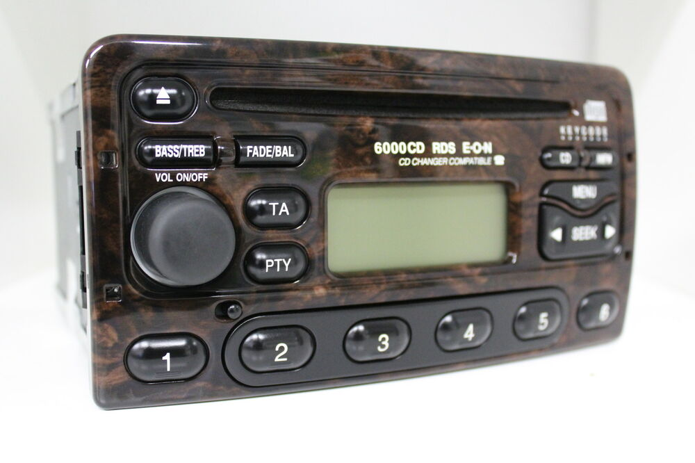 ford 6000cd rds eon wurzelholz 6000 cd radio original autoradio 98ap 18c815 db ebay. Black Bedroom Furniture Sets. Home Design Ideas