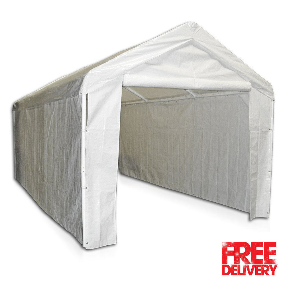 Sold By Costco Carport : Canopy garage side wall kit big tent portable