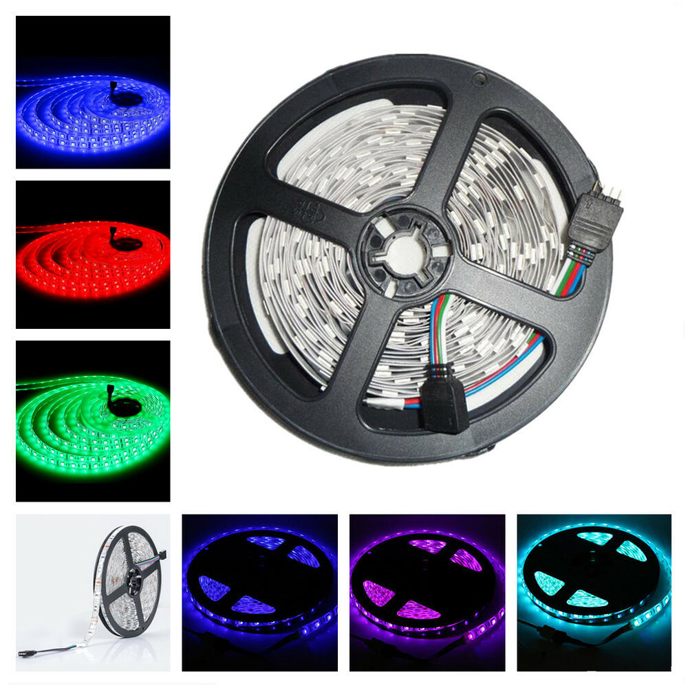 5m led strip streifen rgb smd 5050 300 leds 60leds m 5v. Black Bedroom Furniture Sets. Home Design Ideas