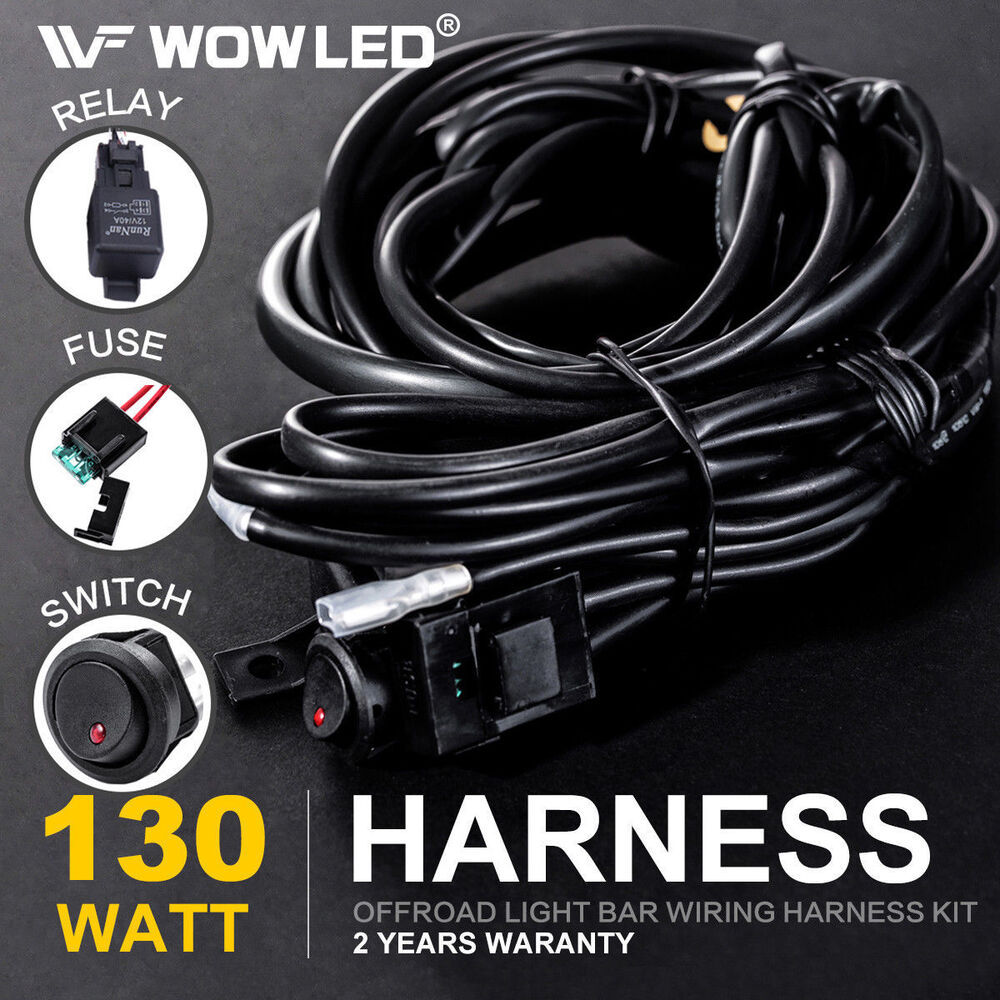 wiring harness switch relay kit for connect 2 led work. Black Bedroom Furniture Sets. Home Design Ideas