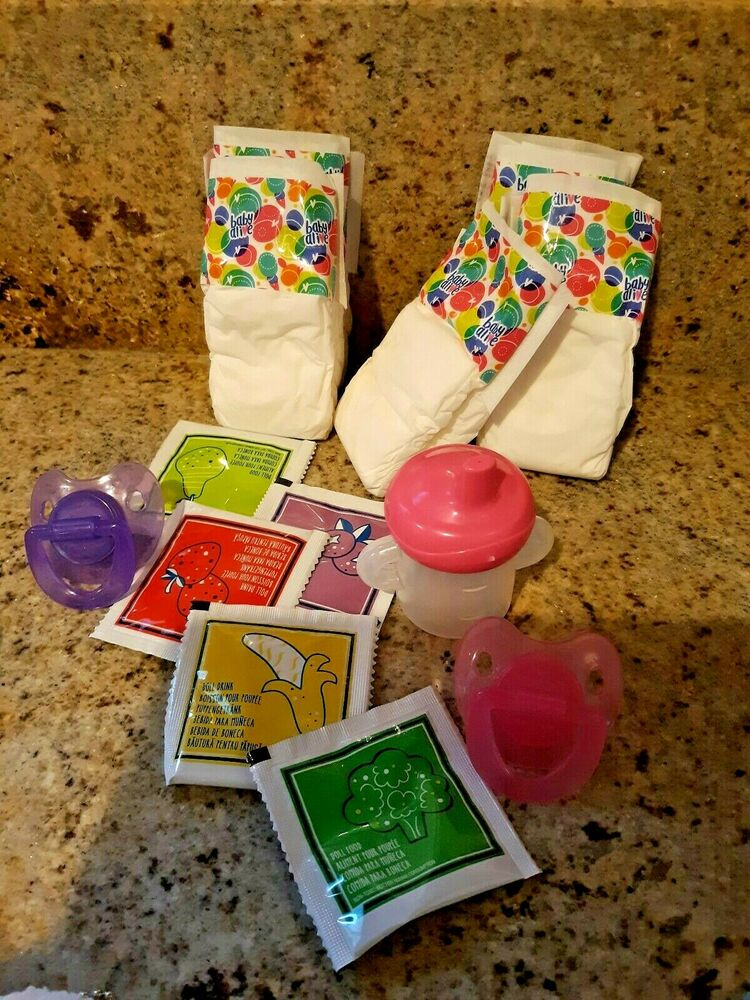 Baby Alive Refill Pk W Sippy Cup 8 Diapers 8 Food And 2