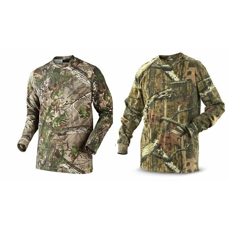 img-Mens Camouflage Camo Real Tree Jungle Forest Print Long Sleeved TShirt Top S-5XL