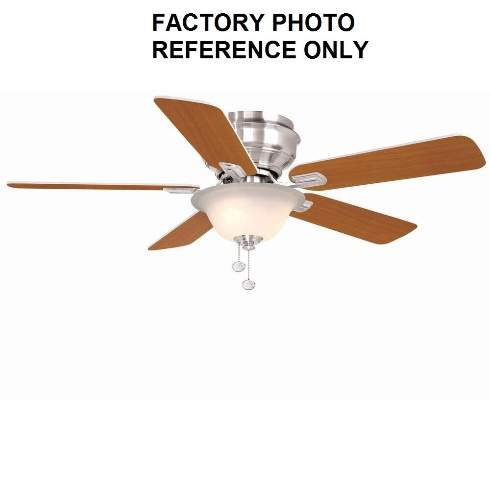 Hampton Bay Hawkins 44 In. Brushed Nickel Ceiling Fan