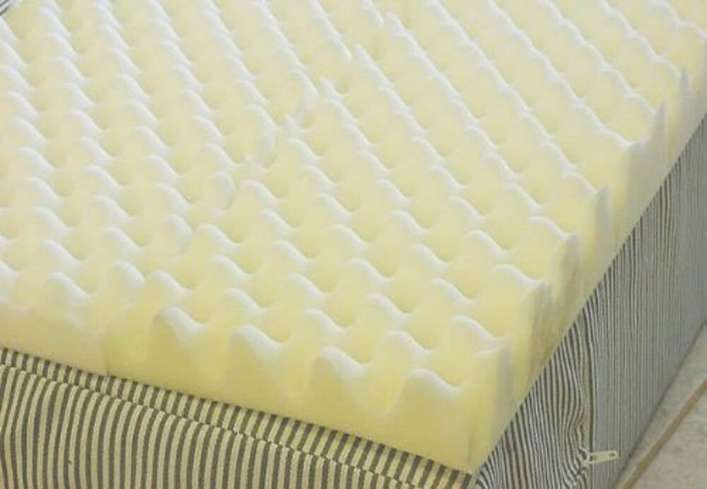 3 Inch Mattress Overlay Topper Foam Twin Bed Pad Egg Crate