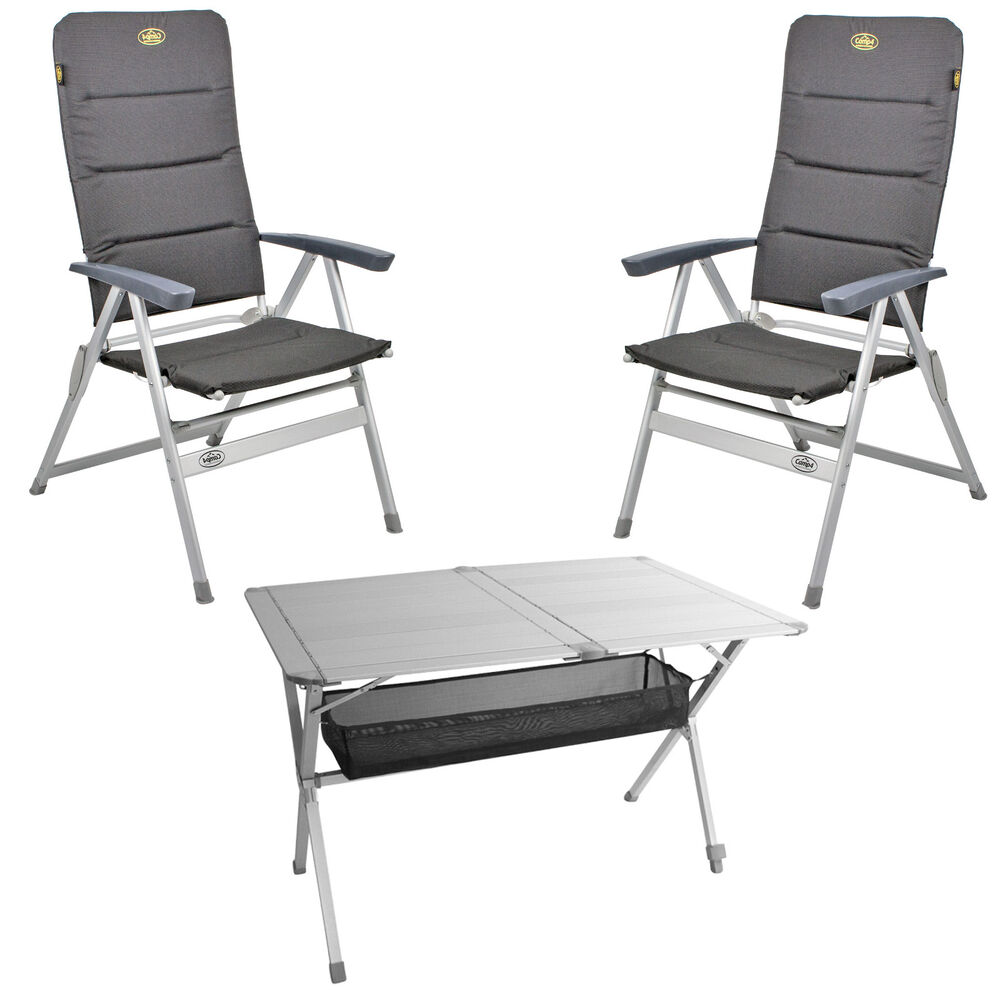 camping m bel set 2x st hle grenoble 1x tisch titan. Black Bedroom Furniture Sets. Home Design Ideas