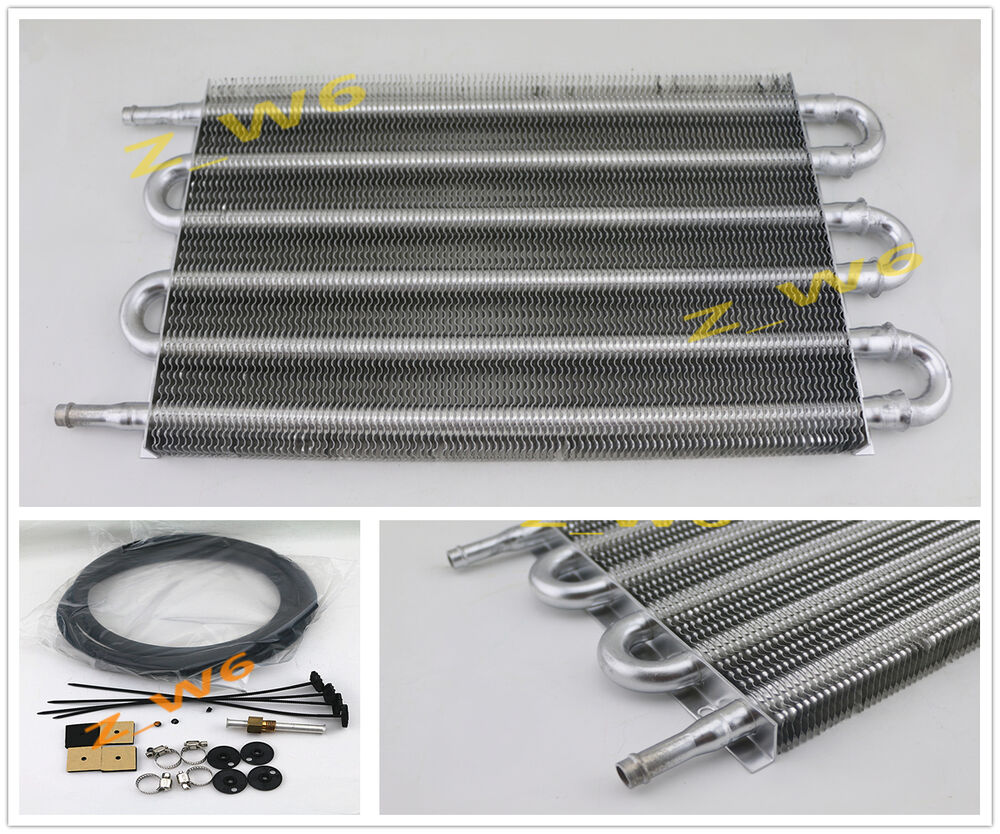 Transmission Oil Coolers And Cooler : Universal car truck row radiator aluminum trans
