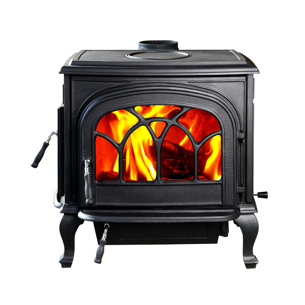 Hiflame Hf737u Large Wood Heating Stove Paint Black New In Box Ebay
