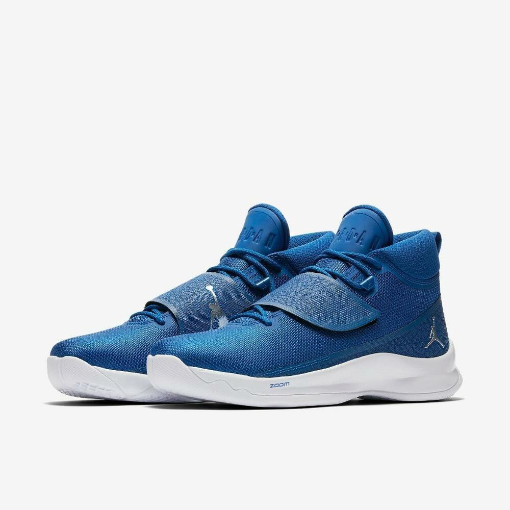 online retailer d64fe c85b4 Details about AIR JORDAN SUPER.FLY 5 PO 881571 406 TEAM ROYAL BLUE METALLIC  SILVER-WHITE