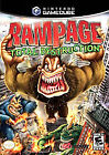 Rampage: Total Destruction (Nintendo GameCube, 2006) GAME GENERIC BOX MANUAL