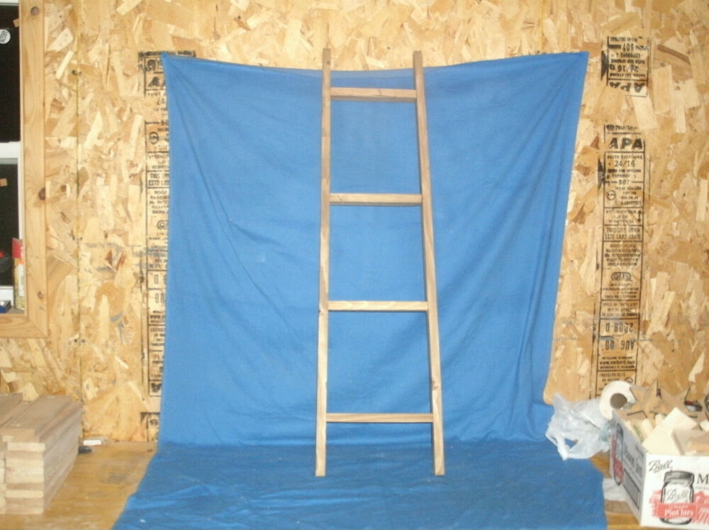 Rustic Country Wooden Ladder 42 In., Blanket Ladder