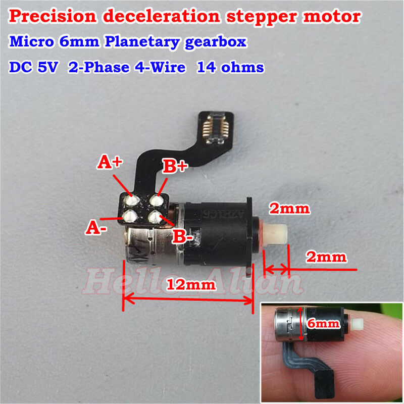 Ultra micro mini 6mm planetary gearbox precision 2 phase 4 for Miniature stepper motors with linear actuation