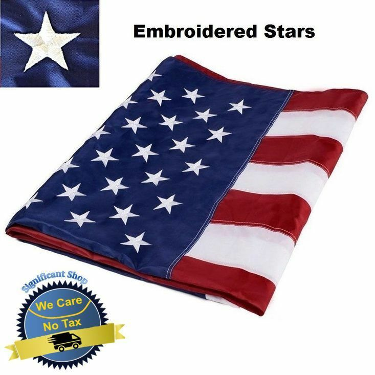 3 X 5 Patriotic Flag American U S Ft Embroidered Heavy