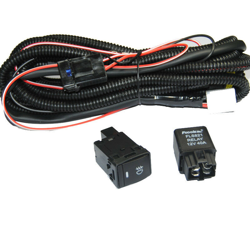 Dodge Neon Fog Light Relay: Relay Wiring Harness Switch Wire H11 For Nissan Add-On Fog