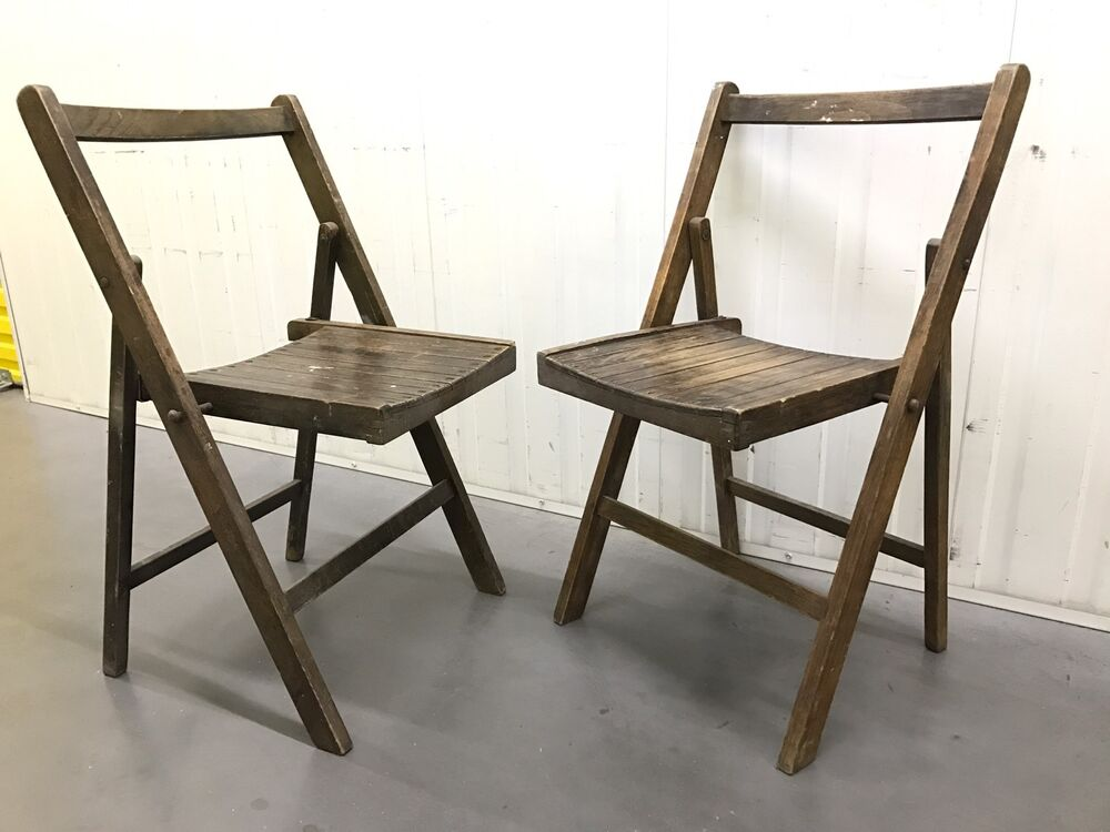 Vintage Wooden Folding Chairs Retro Super Cool Looking Chairs Delivery Is P