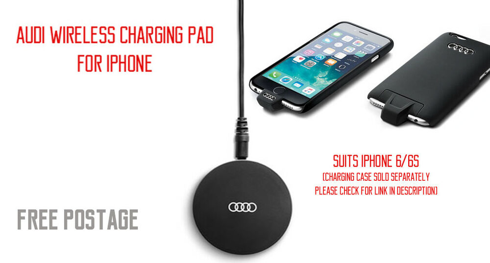 new genuine audi wireless charging pad for apple iphone. Black Bedroom Furniture Sets. Home Design Ideas