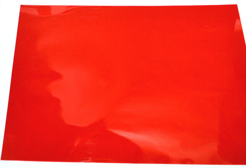 20 X Red Colour A4 Acetate Sheets Transparent Ohp Craft