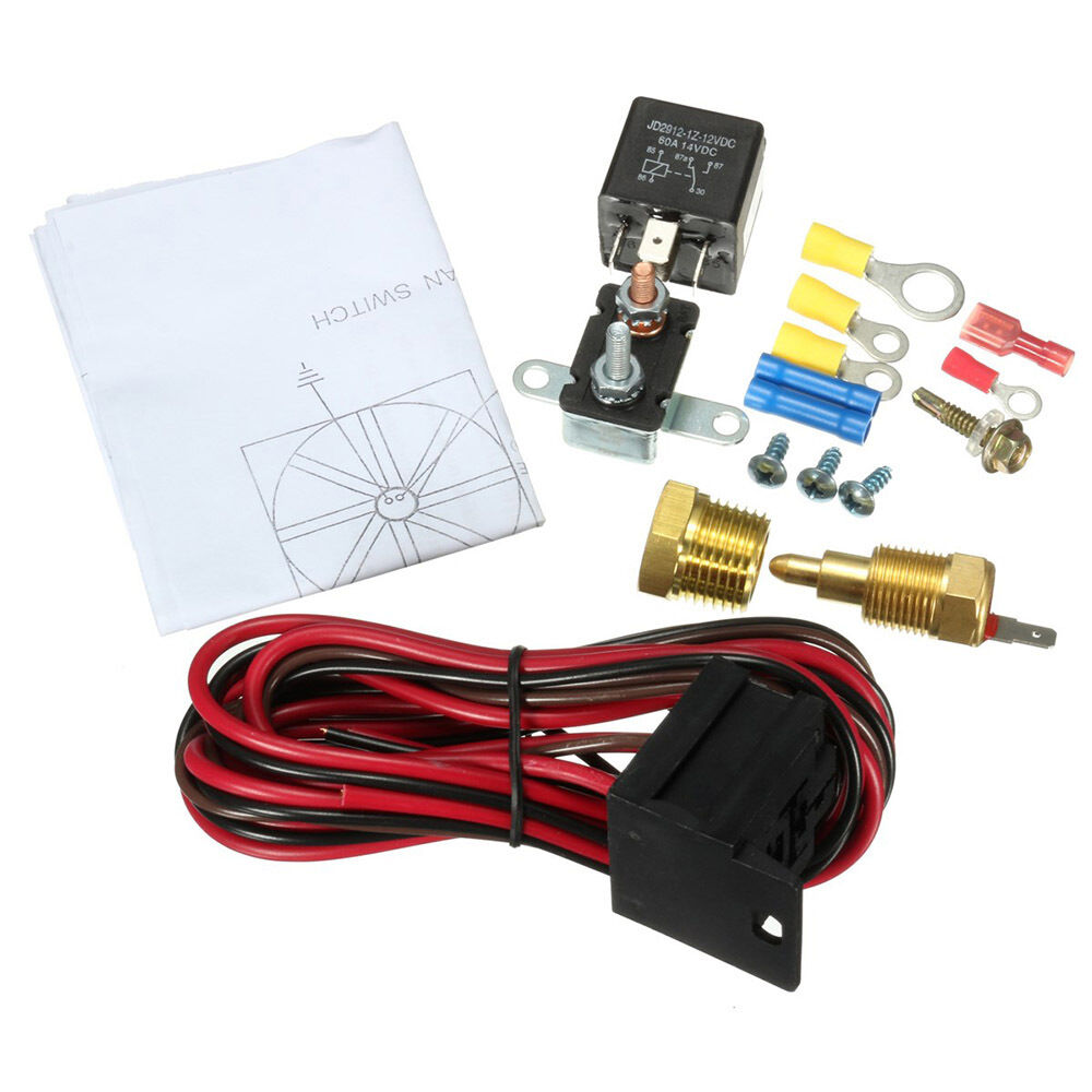 Engine Fan Switch : Electric engine fan thermostat temperature relay