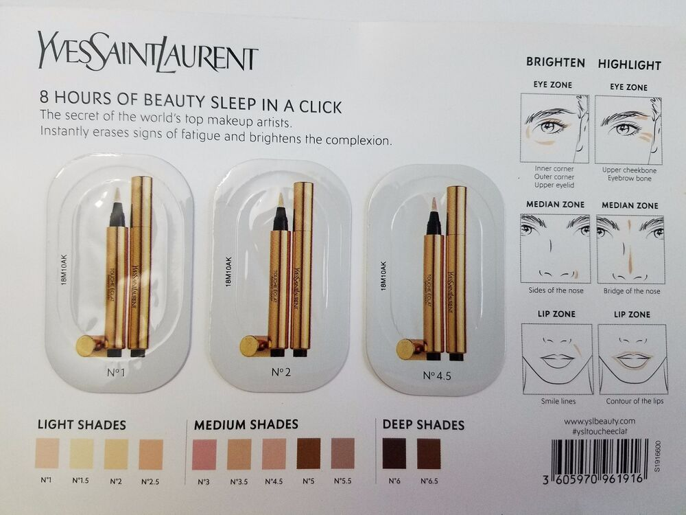 Yves Saint Laurent Touche 201 Clat In 1 2 And 4 5 Sample Ebay