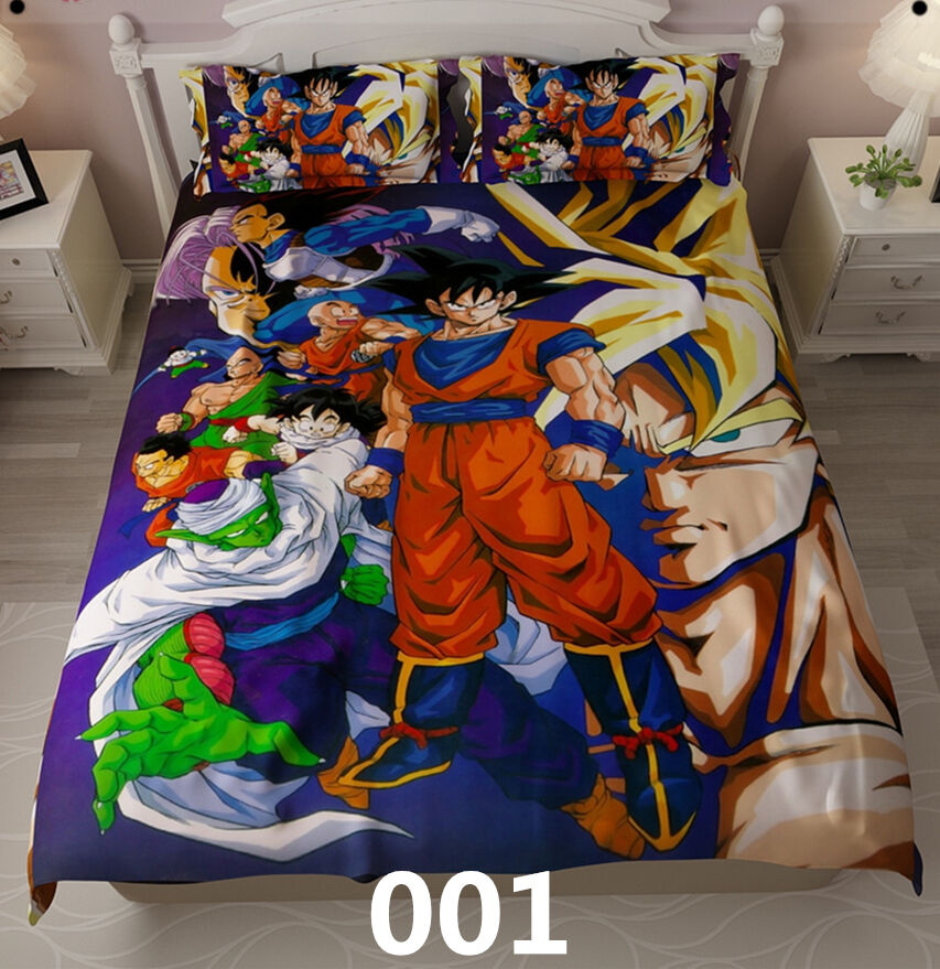 dragonball kakarotto goku kinder gift cartoon bettw sche cosplay bettdecke ebay. Black Bedroom Furniture Sets. Home Design Ideas