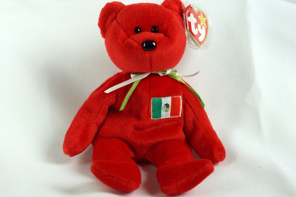 5861013c86e Details about Ty Beanie Baby RED OSITO Bear Mexico w  Tag ERRORS Plush Toy  RARE PE NEW RETIRED
