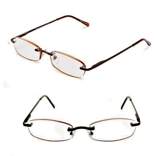 2-pairs-125-foster-grant-classic-womans-slim-metal-rimless-reading-glasses-