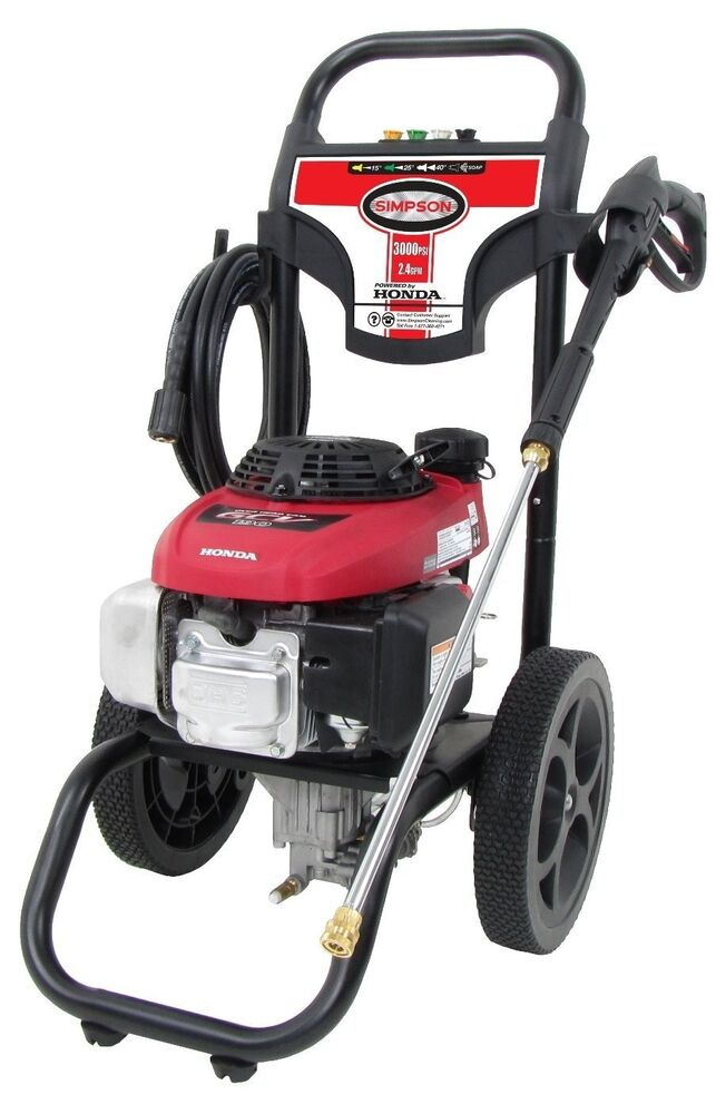 3000 psi pressure washer 2 4 gpm 3000 psi gas powered pressure washer 10169
