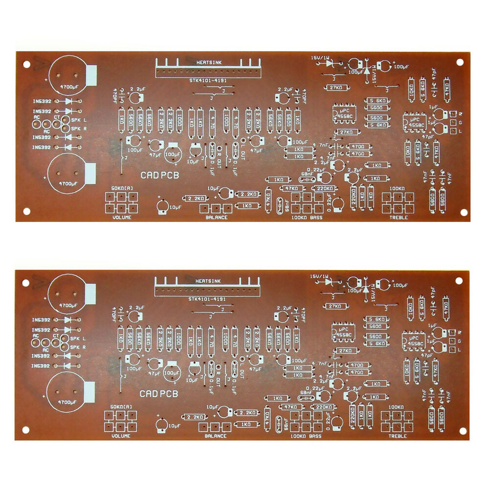 Stk 4101 4191 100w Power Amplifier Board Pcb Ebay With Circuit Diy